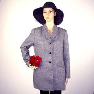 Nordstrom NWOT Lined Wool Blend Jacket Gray Sz 10P